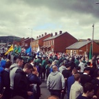 Anti-Internment march largest yet cut short as PSNI block marchers route. The message was clear, End Interment Now!