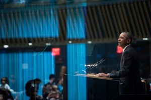UN 70th General Assembly. President Obama's speech . . .