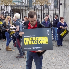 Amnesty International protest.