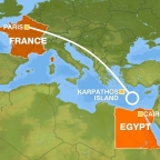 Objects found off the coast of a Greek Island could be related to missing passenger plane