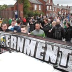 Anti-Internment march restricted from entering the so called 'shared space' of Belfast City center