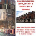 Poster campaign to highlight the ongoing housing crises #No More Deaths On Our Streets
